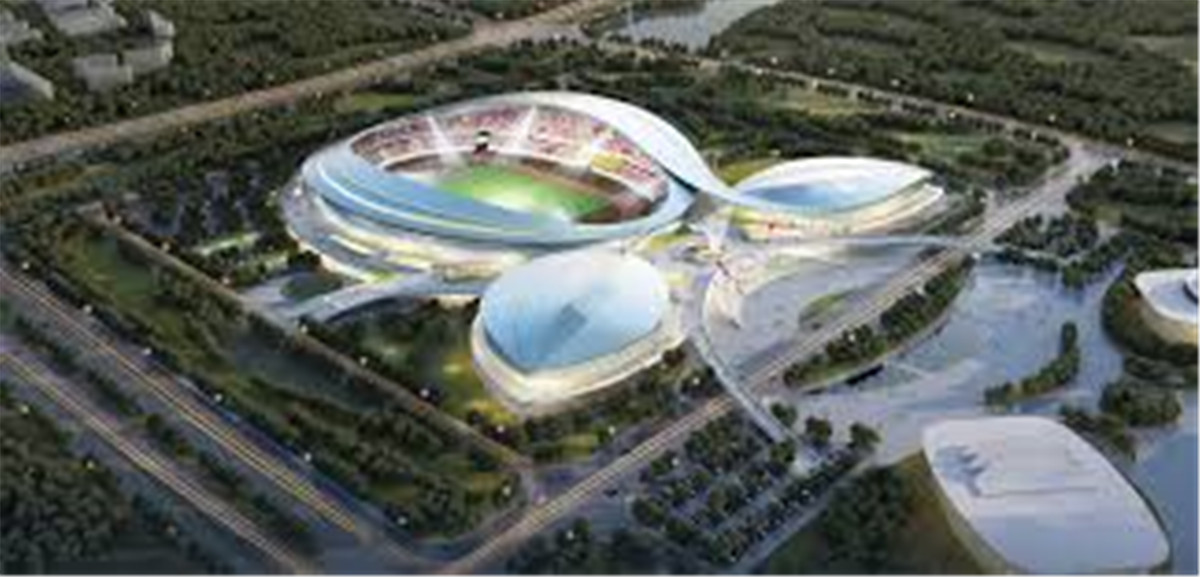 Construction Technology For Tensioned Trusses In Sports Stadium Projects04
